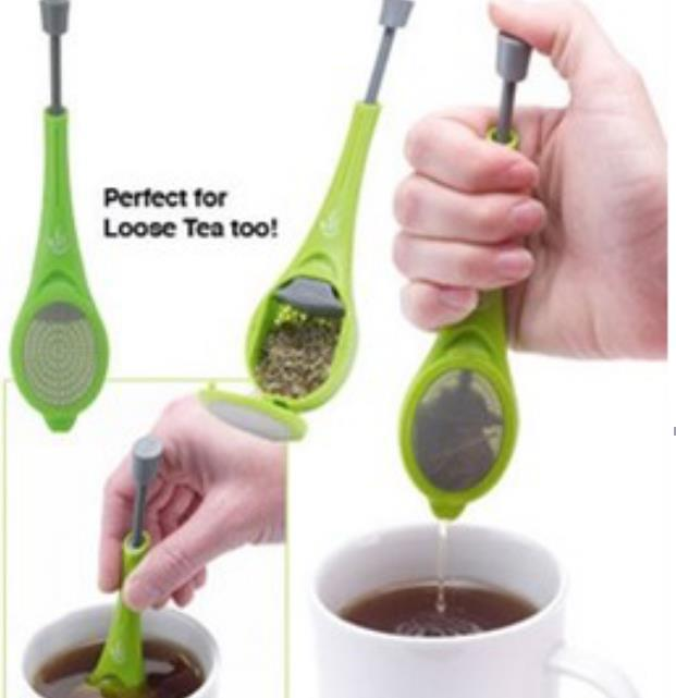 Tea Infuser Built-in Plunger Healthy Intense Flavor Reusable Tea Bag Plastic Tea&Coffee Strainer Measure Swirl Steep Stir&Press