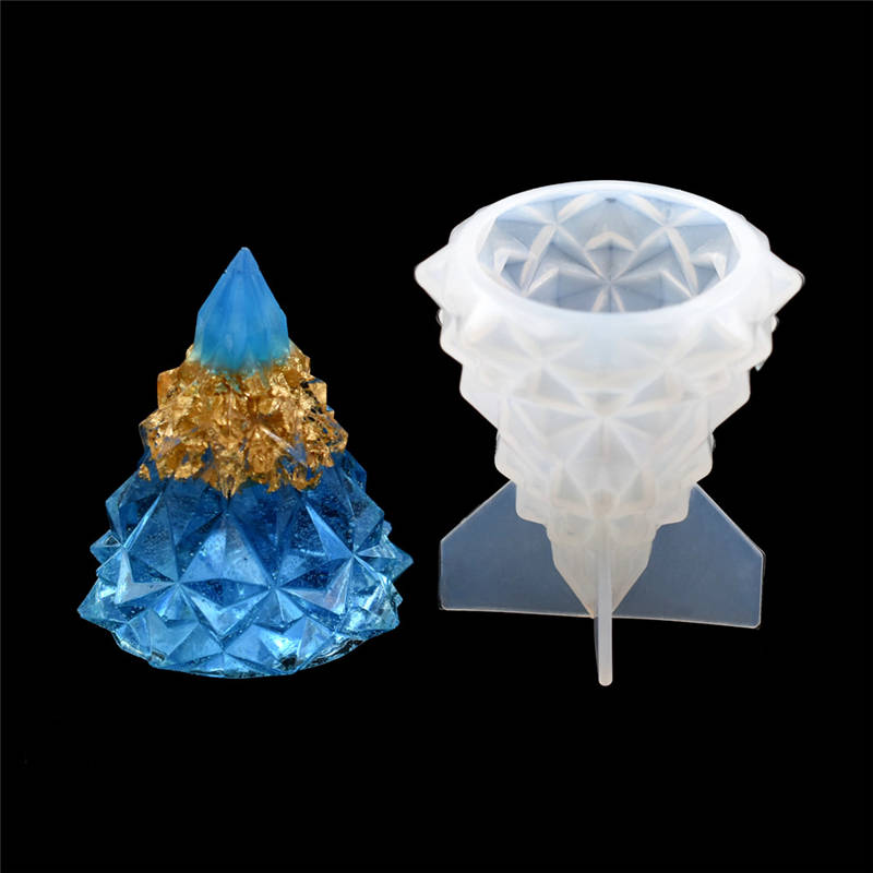 1 PC SNASAN Silicone Mold Crafts Christmas Tree Resin Silicone Mould Jewelry Making Charms Epoxy Resin Molds