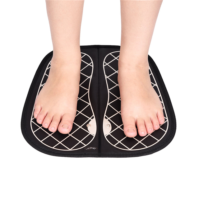 Unisex EMS Tens Acupuncture Foot Massager Muscle Stimulator Acupoint Mat Health Care Foot Massage Deep Kneading Shiatsu Therapy 3