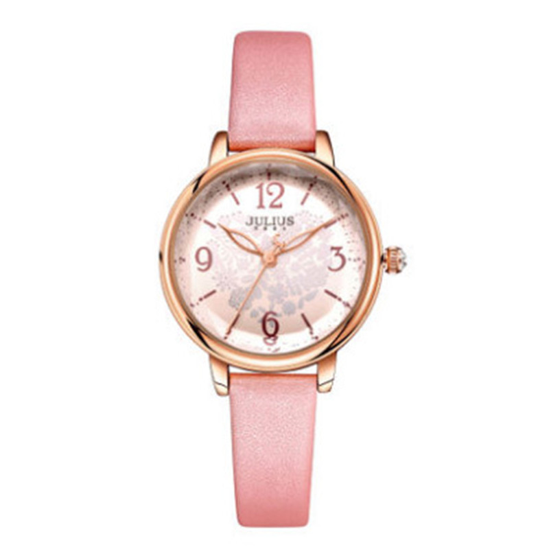 Julius women quartz watch waterproof fashion Heart pattern genuine leather crystal quality Romantic stereo brand watches 009 julius 397 heart shaped women quartz watch with diamond round dial genuine leather strap