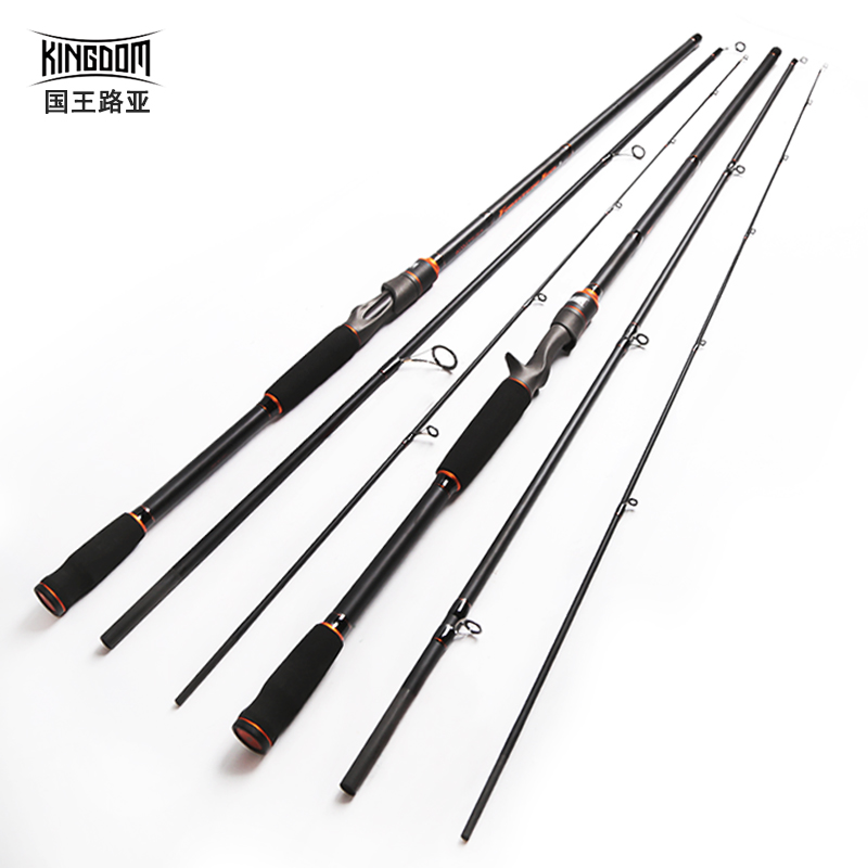 Kingdom Spinning Rods 2.7m 3m Carbon Fishing rod M MH Casting rods Fast Lure Feeder Rod Fishing Pole 3 Sections