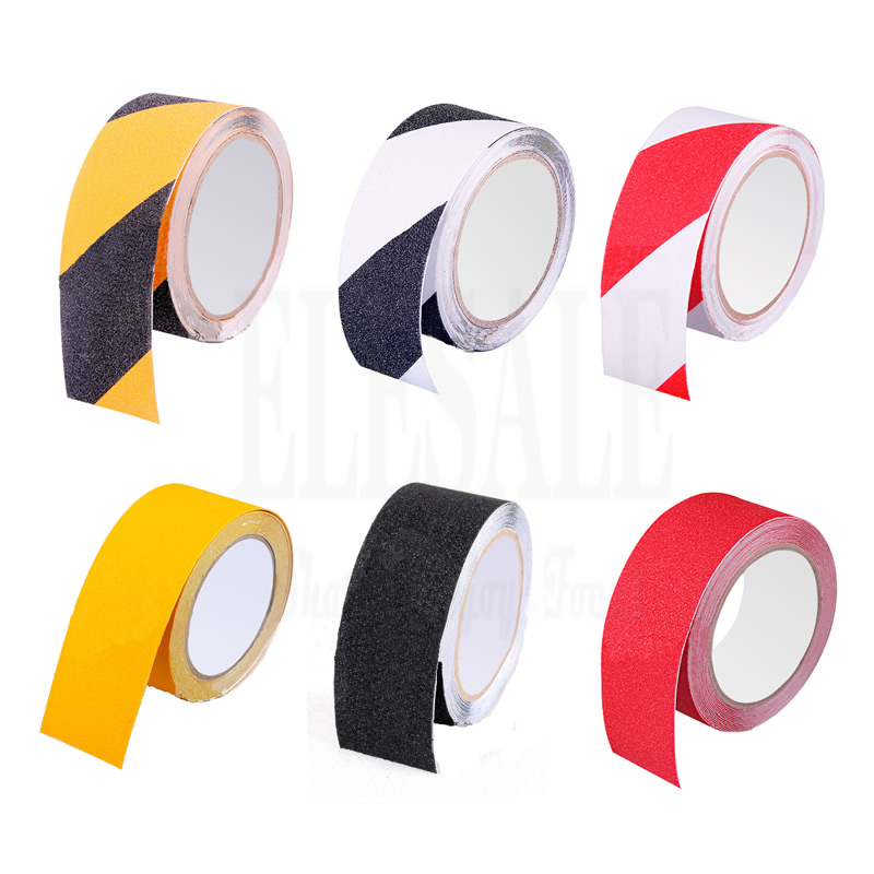 High Quality 1pcs 2.5cm*5m Anti-skid Warning Tape For Factory Warehouse Home Bathroom Stairs Anti-Slip Workplace Safety Tapes 5cm 5m frosted surface anti slip tape abrasive for stairs tread step safety tape non skid safety tapes