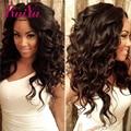 Glueless Cheia Do Laço Perucas de Cabelo Humano Para As Mulheres Negras Parte Dianteira Do Laço Onda Do Corpo Cheia Do Laço Perucas de Cabelo humano Peruano Frente Perucas Bebê cabelo