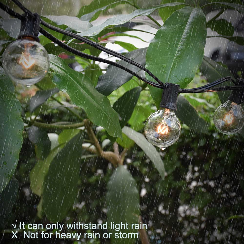 25FT Teras String Lampu Natal G40 Dunia Dihiasi Lampu Fairy String Lampu Outdoor Taman Pesta Pernikahan Dekoratif