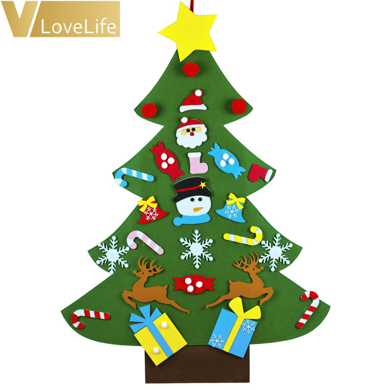 Christmas Tree Decorations For 2019: Kids DIY Felt Christmas Tree Decorations For Home New Year