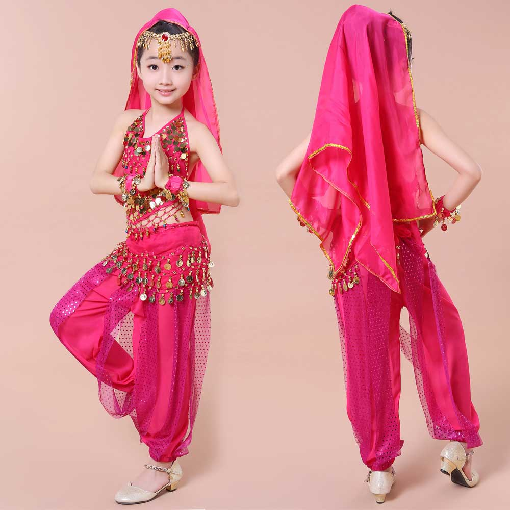 Panas! 2017 Girls Belly Dance Costume Child Bollywood Dance Costumes Bellydancer Children Indian Clothing Dresses Kids Bellydance