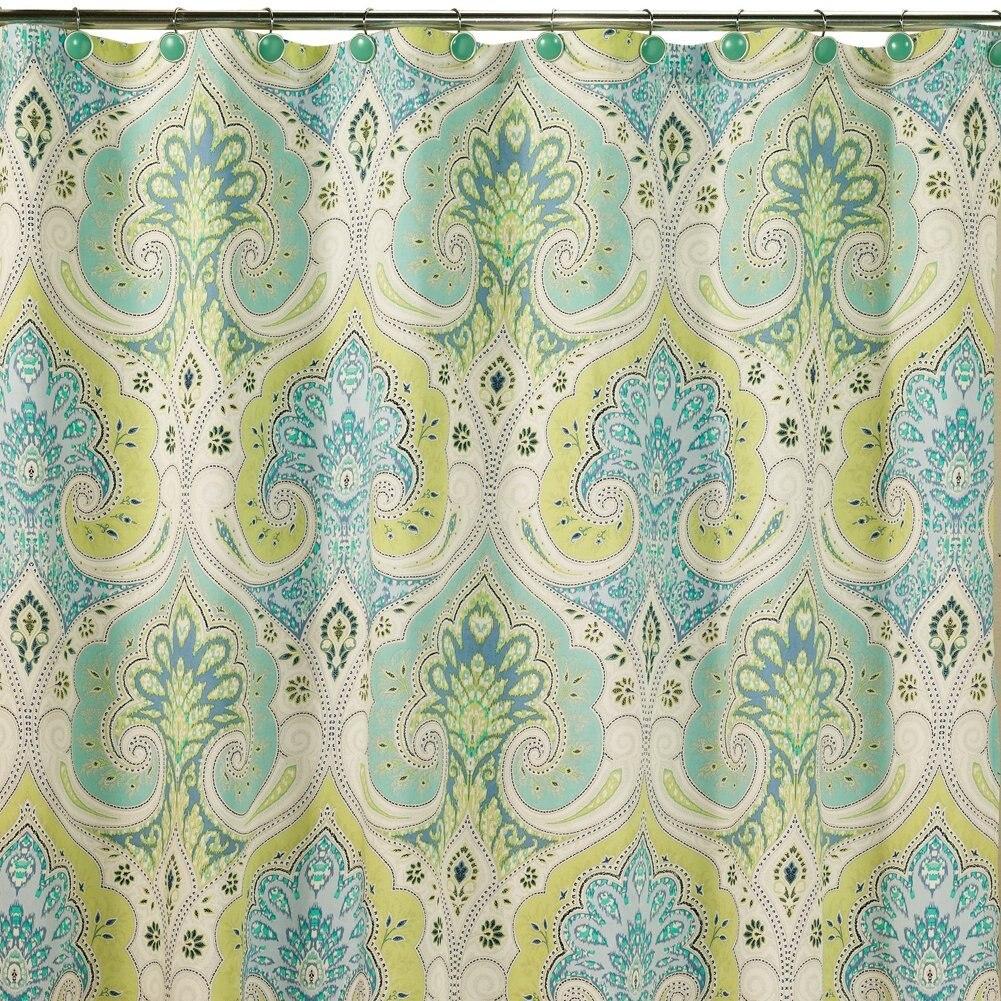 Медина шафран занавески для душа, плесени устойчивая ткань, современный для ванной комнаты, печать, Пейсли Водонепроницаемый душ занавески
