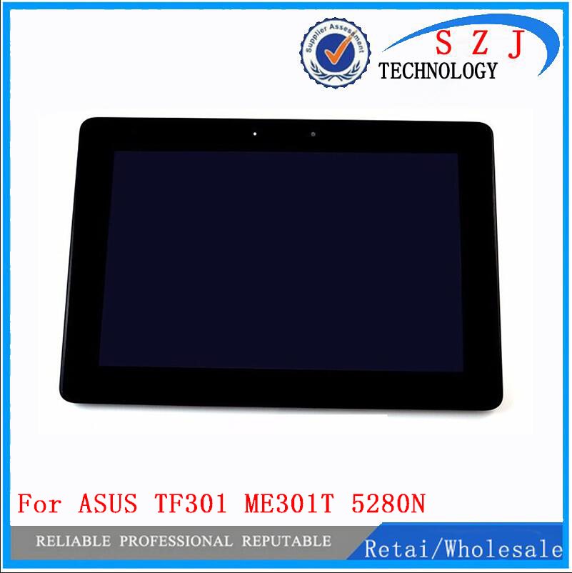 New 10.1'' inch Touch Screen Panel Digitizer + LCD Display FOR ASUS Memo Pad Smart ME301 ME301T 5280N FPC-1 free shipping new for asus eee pad transformer prime tf201 version 1 0 touch screen glass digitizer panel tools
