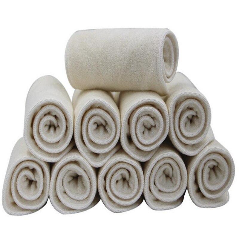 3 slāņi mazgājami ieliktņi 10gab / partija Real kabatas audums autiņbiksīšu apvalka vāks Ievietojiet mikrošķiedras bambusa kokogles ieliktni.
