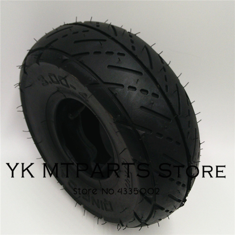 3.00-4 pneu de Scooter Mini ATV roue pneu Qinda marque pneus de roue hors route modèle Qinda marque pneus de roue