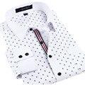 De alta qualidade dos homens do designer de camisas de manga comprida Causal cópia Floral vestido de camisas sociais Slim fit roupas dos homens do vintage