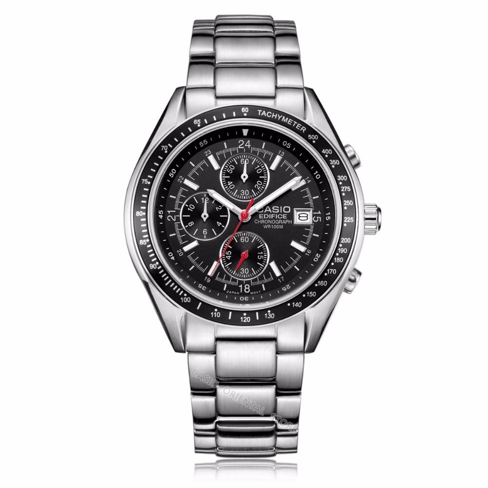CASIO ediffice men's  Watch Hot Sale Business 10 bar Waterproof Quartz Watches EF-503 Relogio Masculino Table Clcok EF-503D-7A casio ef 328d 7a