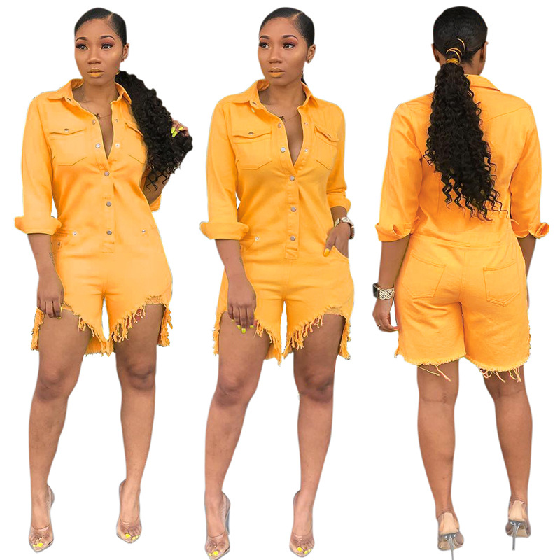 2019 new arrival elegent fashion women plus size pink and yellow jumpsuit  S-XXL