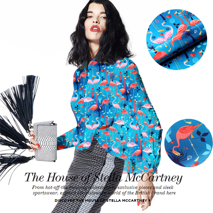135cm wide 12mm flamingos print blue silk crepe de chine fabric fabric for summer blouse dress