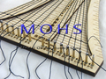 Versión actualizada modelo antiguo vela escalera de cuerda del tejedor del ganchillo cuerda del COMBO escala de madera modelo de nave modelo de velero de madera herramientas
