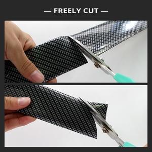 Image 4 - 2M Auto Aufkleber Tür Rand Schutz Protector Carbon Faser Film Rubber Moulding Trim Streifen DIY 3 Farben Für Auto styling Zubehör