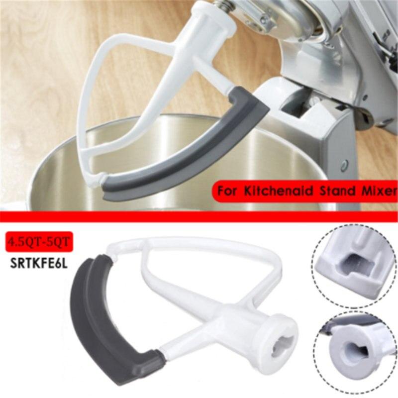 1 pièce de bord flexible à tête inclinable 4.5-5QT (5L) pour mélangeurs sur pied à tête inclinable KitchenAid KFE6L Professional