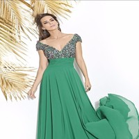 Evening Summer Dress Elegant Women Woman Vestidos Verano2018 New Pattern Banquet Noble Deep V Lead Grace