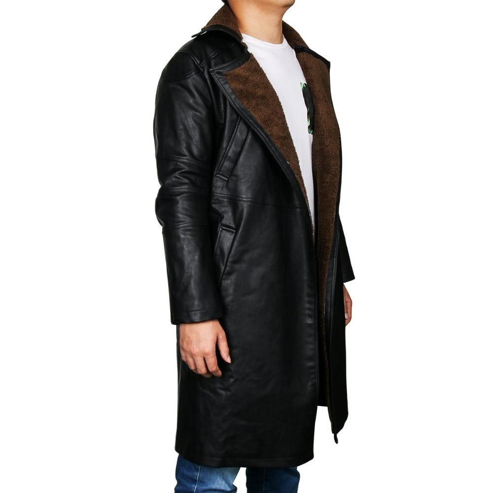 Blade Runner 2049 Offizier K Graben Cosplay Kostüm 2017 Ryan Gosling Jacke Outwear Lange PU Leder Mantel Halloween Uniform Neue - 3