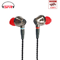 SENFER DT6 1BA+1DD Hybrid In Ear Earphone HIFI DJ Running Sports Earplug Earbuds With Mic Detachable MMCX Cable X6 PT25 DT8 T2