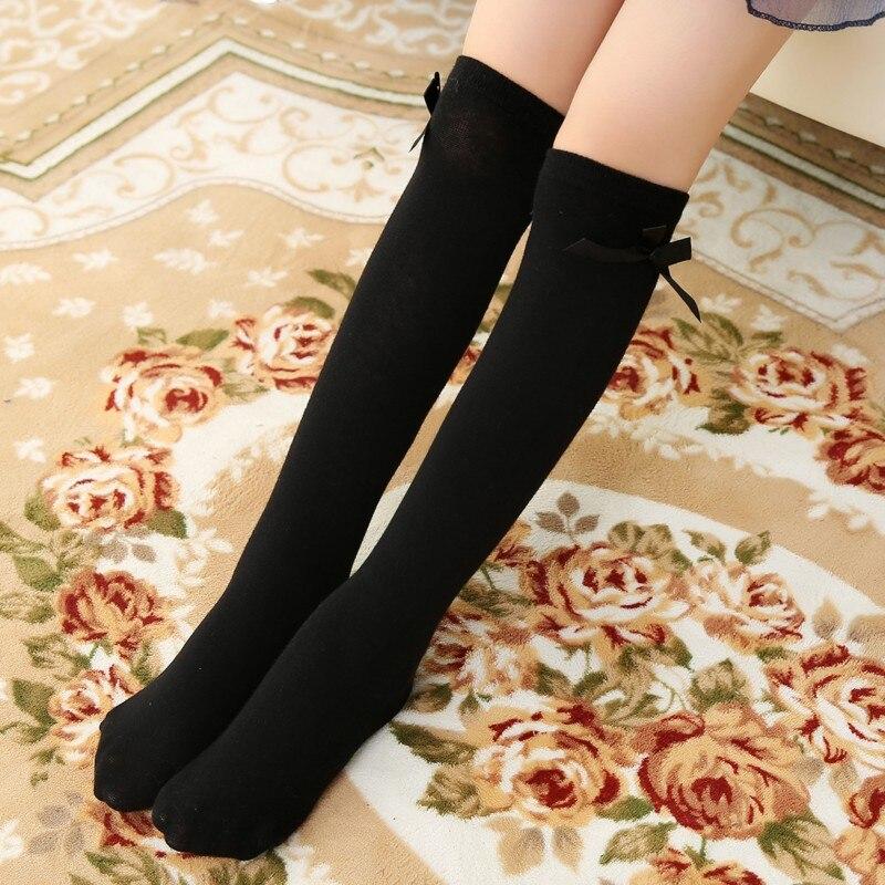 2019 Girls Socks Pricess Knee High Bows Cute Baby Kids Socks Long Tube Sock Children Leg Warmer Girl Booties Sweet Socks