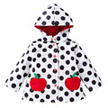 cute girl outdoor sport jacket coat cute dot interchange raincoat for 2-6years girls kids children outerwear coat clothes hot