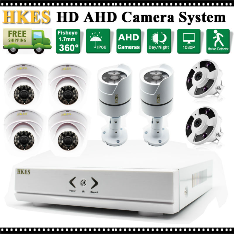 New Fish Eye Camera 960P 360 Degree AHD Outdoor/indoor Security Camera System CCTV Video Surveillance 8CH DVR Kit AHD Camera Set бра artelamp teatro a3964ap 1rd