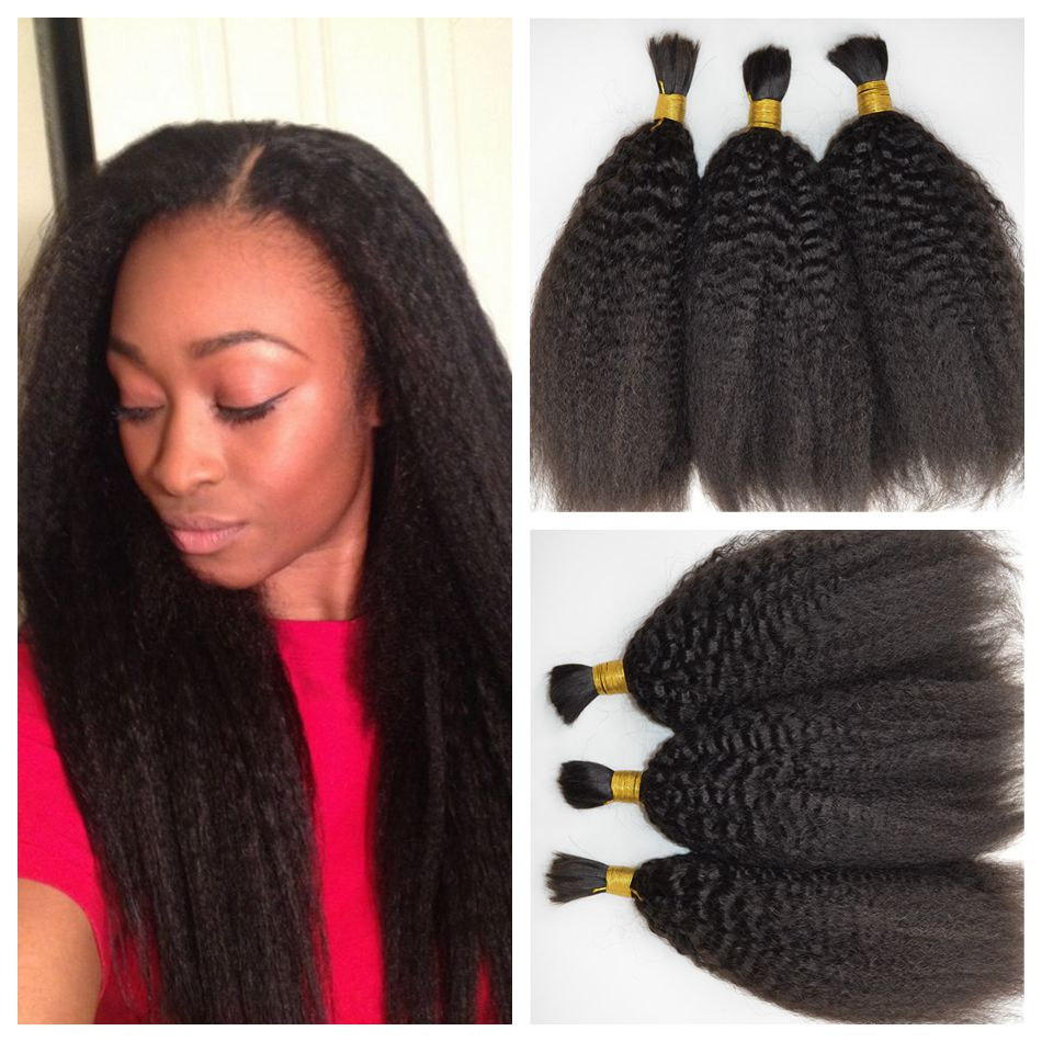 Human Hair Bulk For Braiding Straight Virgin 3 Bundles 8 30 Inch Brazilian In From Extensions