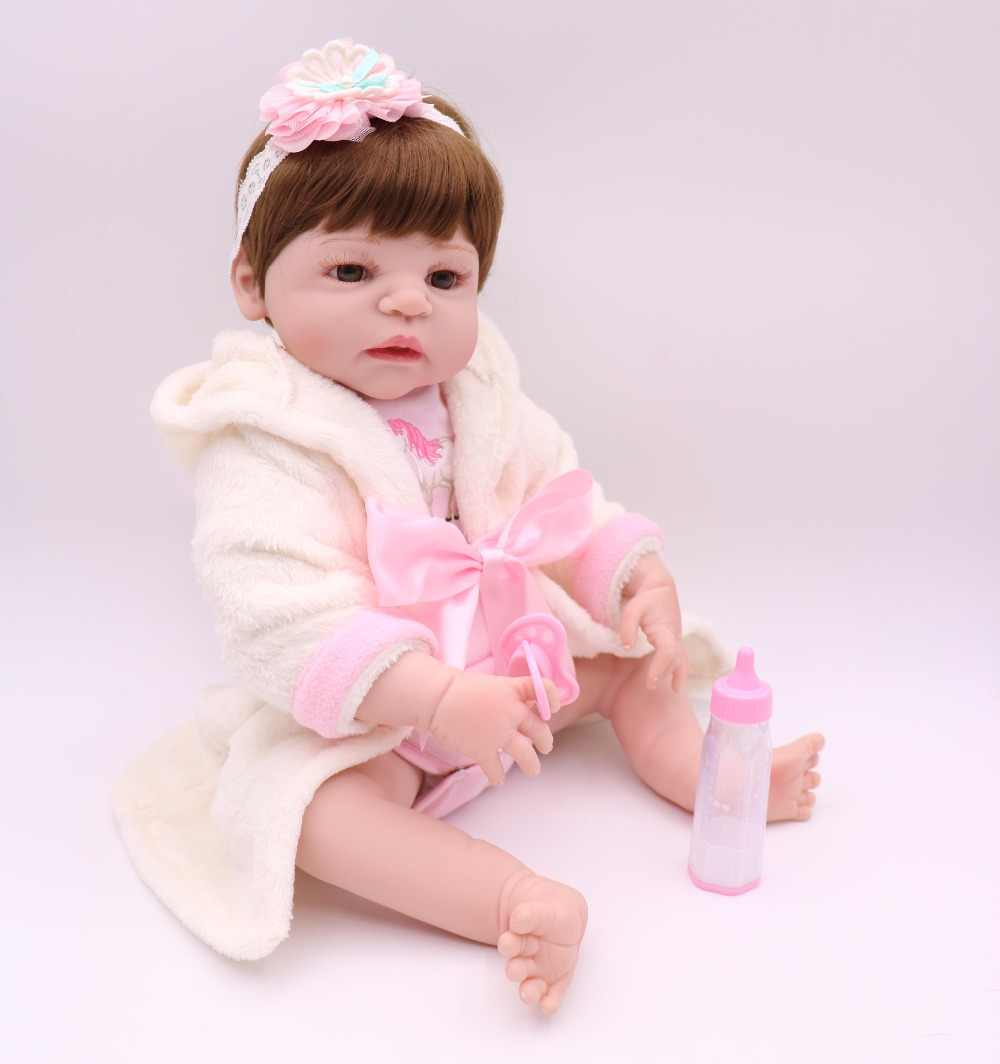 Новинка, для девочек, для новорожденных, 55 см, силиконовая, виниловая, для новорожденных, для детей, кукла, подарок для детей