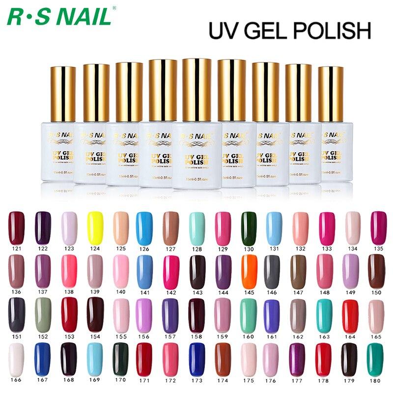Rs Nail: RS NAIL 308PCS/Lot 15ml Long Lasting UV Gel Nail Polish
