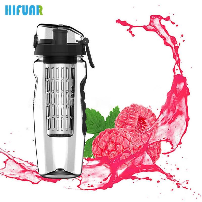 HIFUAR Tritan Fruit Infuser Juice Shaker Sports Lemon Water Bottles Portable Tour Climbing Camp Bottles Water botella de agua