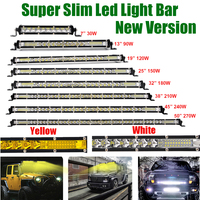 7/13/20/25/32/38/45/50 inch Single Row Slim LED Work Light Bar Spot Flood Combo Bumper Lamp For Car Offroad Truck Boat 4X4 ATV