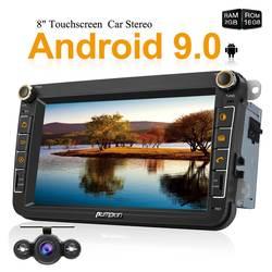 """Тыква четырехъядерный 2 Din 8 """"Android 9,0 GPS; стереооборудование для автомобиля аудио нет DVD плеер для Volkswagen/Skoda/Golf Wifi OBD Fastboot головное устройство"""