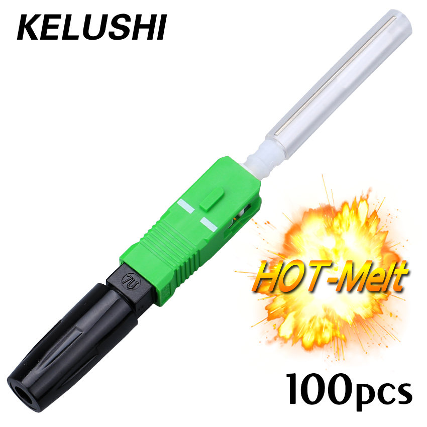Free Shipping 100pcs  SC/APC FTTH Fiber Optic Fast Connector Hot Melt type Fiber Optic Fast Connector KELUSHIFree Shipping 100pcs  SC/APC FTTH Fiber Optic Fast Connector Hot Melt type Fiber Optic Fast Connector KELUSHI