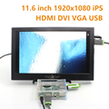 11.6 Inch 1920*1080 IPS Screen with Speaker Display Portable Monitor PC LCD Module Auto Car Raspberry Pi 3 1080p HDMI VGA DVI