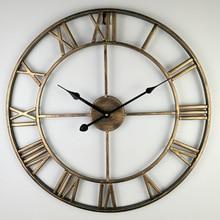 Северная Европа краткое Творческий настенные часы римские цифры Ретро железные часы под старину Klok Лидер продаж украшения дома