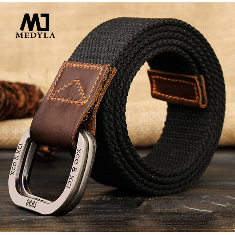 MEDYLA   Belts   For Men New Striped Adult Casual Men Knitted Cintos Femininos   Belt   Man Canvas Lengthen Strap Male Personality