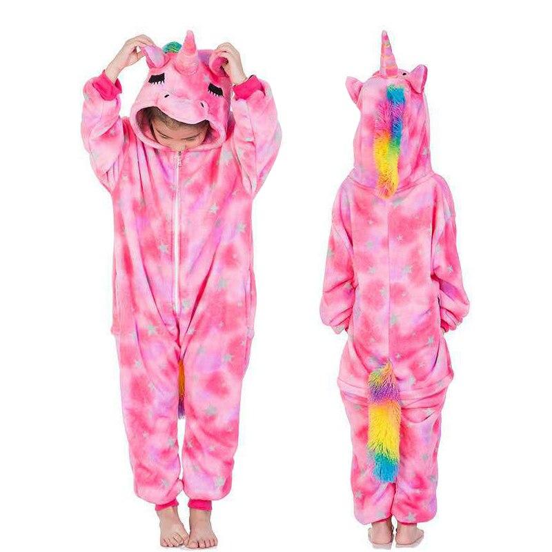 licorne inverno pijamas crianças