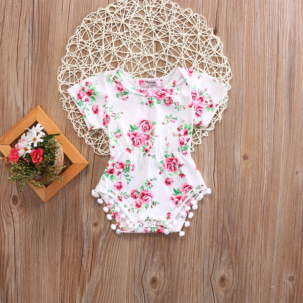 Newborn Baby Girl Kids Floral Romper Jumpsuit Outfits Sunsuit  bodysuit baby girl clothes Clothes 2017 summer newborn baby girl white lace romper jumpsuit floral infant clothes outfit sunsuit