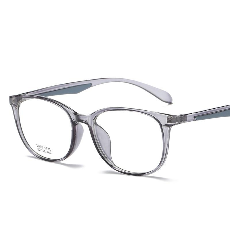 2018 Fashion Oval Glasses Frame Men Women TR90 Eyeglasses Frame Brand Vintage Round Clear Lens Glasses Optical Spectacle Eyewear