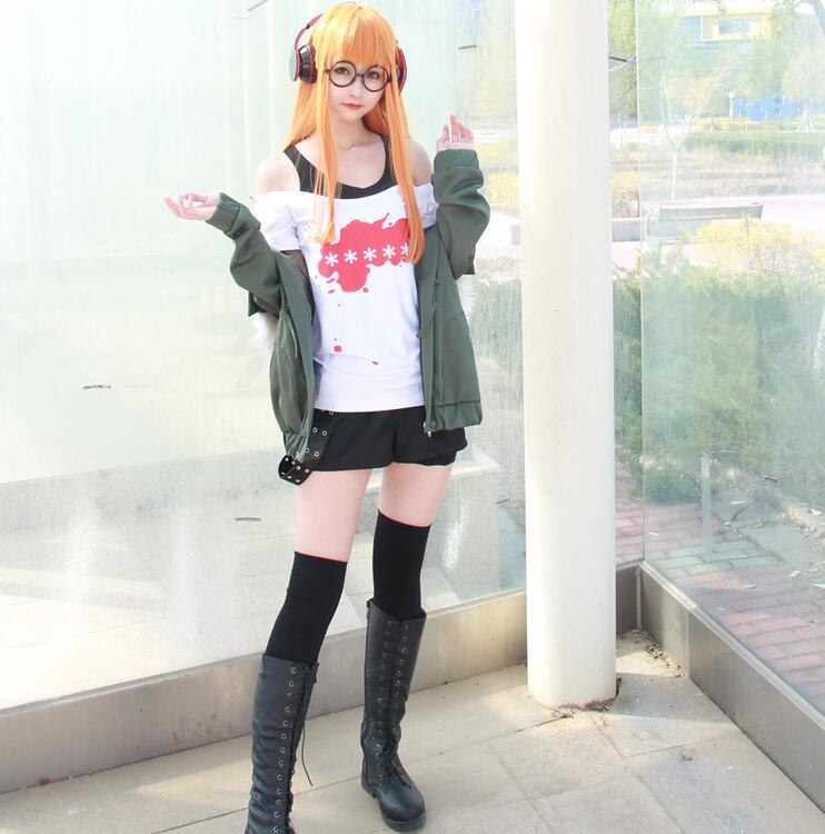 Persona 5 Futaba Sakura Cosplay Costume Uniform Suits New S-XL