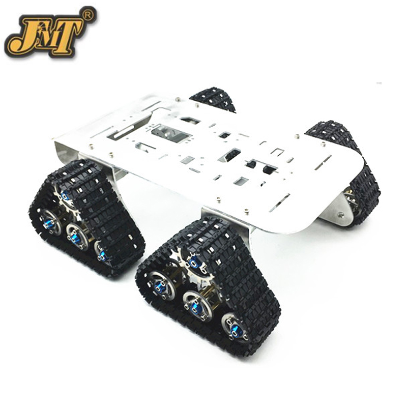 DIY Toy 4wd Metal Tank Smart Crawler Robotic Chassis 25.5x25x23cm for RC Robot Car Toy official doit caeser ts600 4wd damping tracked metal tank car chassis smart robot toy robotic competition