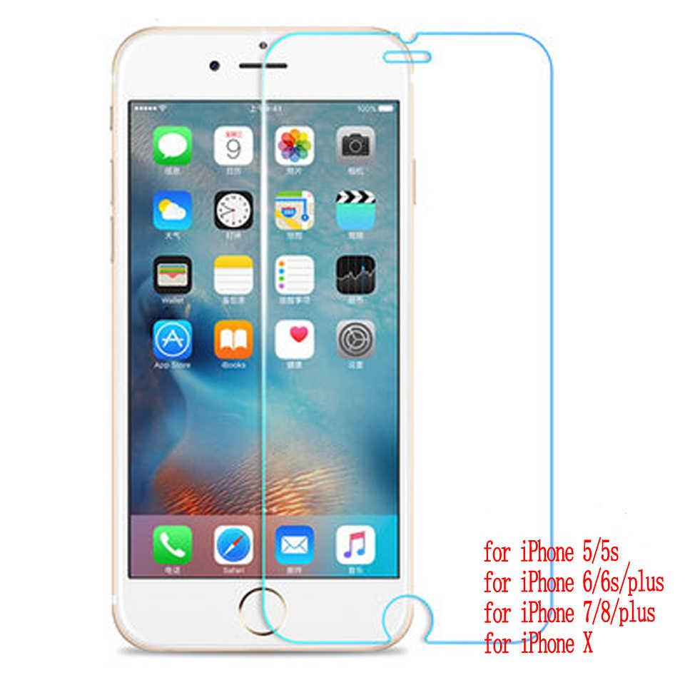 2.5D защита из закаленного стекла для iphone 5 6 7 6s se 8 X plus max XR glass iphone 7 8 4S стеклянный протектор экрана на iphone 7 6 S 8