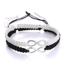 2 pcs New Retro Infinity Handmade Bracelet Set Friendship Bracelet Set Love Couples Bracelets & Bangles Set Infinity Jewelry