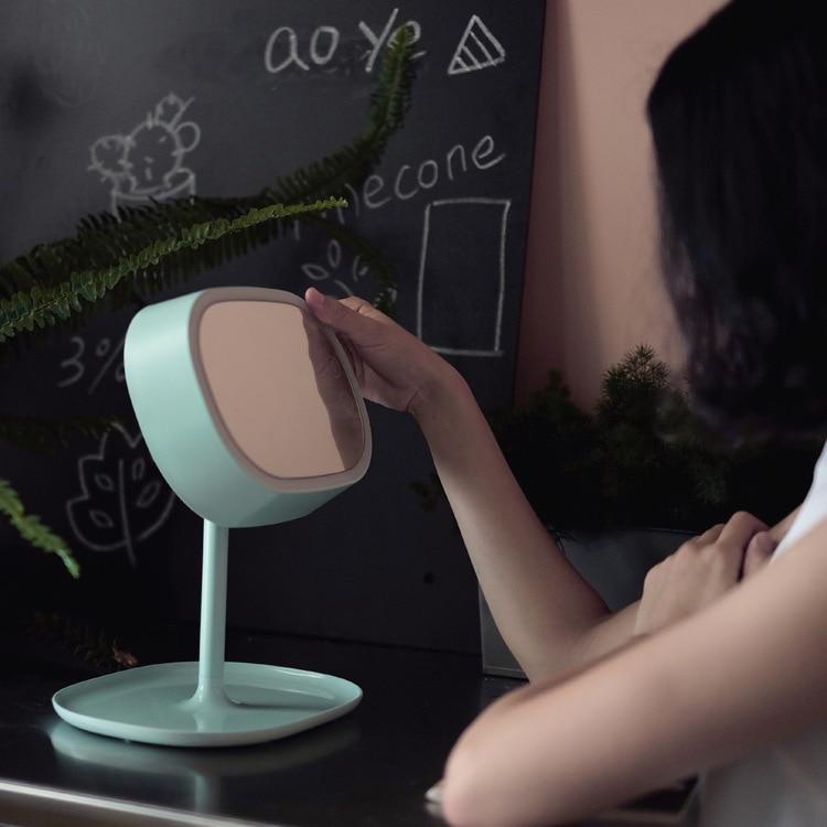 Makeup mirror lamp creative led vanity mirror bedroom night atmosphere desktop USB smart mirror night light