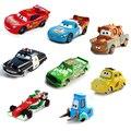 Disney pixar cars 16 estilos relâmpago mcqueen e mater 1:55 diecast metal liga toys presente de natal de aniversário para crianças cars toys