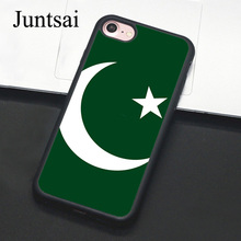 Juntsai Pakistan Country Flag Phone Case For Apple iPhone X 8 7 Plus 6 6s 5 5s SE Hard PC+TPU Cases Back Cover Capa