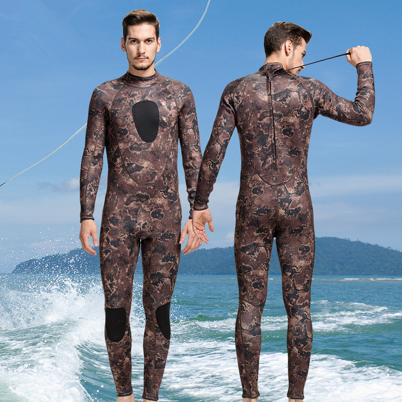 2017 Spearfishing Wetsuit 3MM Neoprene Surfing Suit Wetsuit Camo Swimming Fishing Wetsuit Camouflage Diving Wet Suit O1018 mens camouflage 3mm neoprene wetsuit weight belt vest veste for spearfishing fishing clothes women