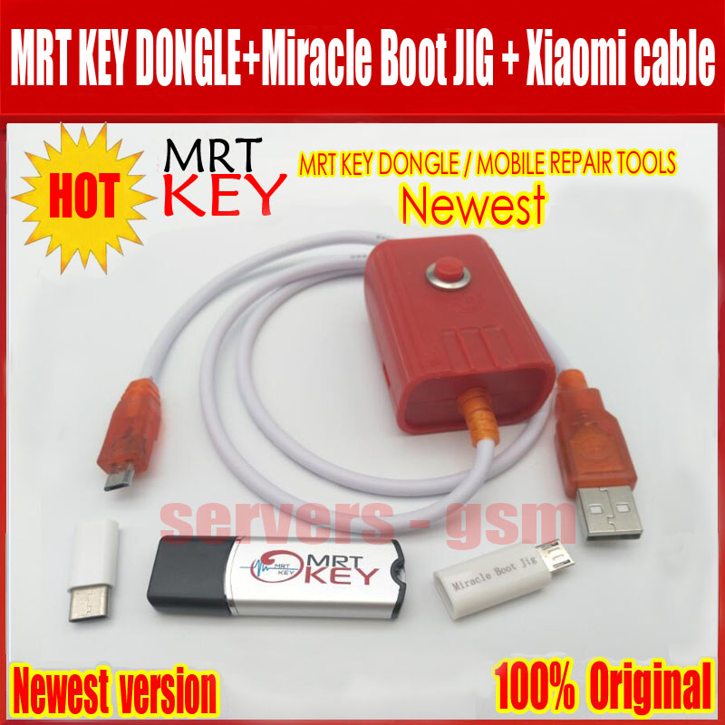 2019 plus récent Original clé MRT dongle MRT + gabarit de démarrage Miracle + câble xiaomi9008