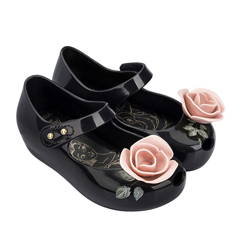 2017 sandals summer Beauty Beast mini messa Shoes boys girls Jelly Sandals high quality Princess 1-6Y non-slip Teacup Sandals